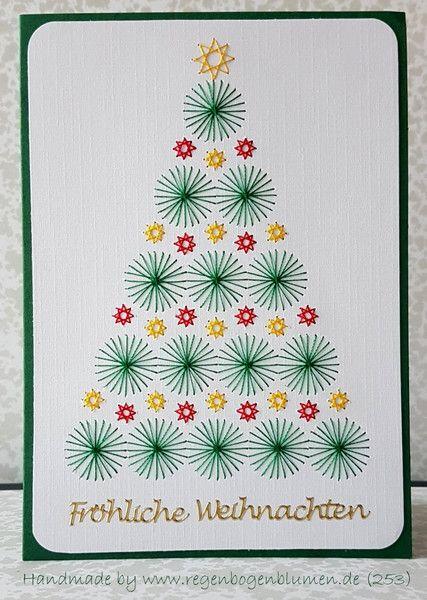 weihnachtskarten fadengrafik gru karten set 253. Black Bedroom Furniture Sets. Home Design Ideas