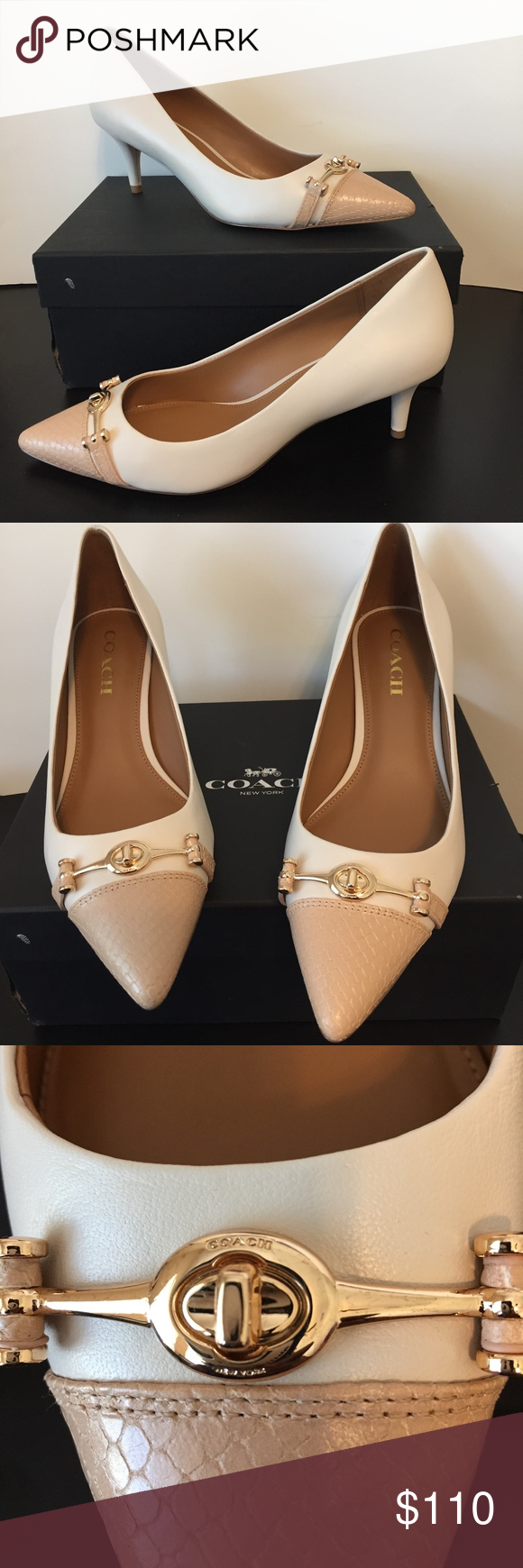 60d99359c128 COACH LAURI Pointed Toe Classic Pumps SIZE 9 M Authentic brand new in box  Coach Womens
