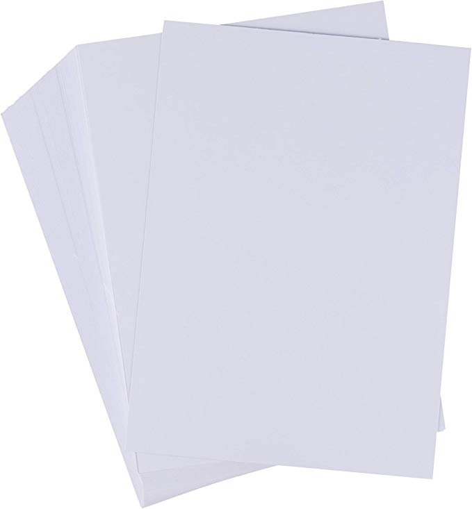 Amazon Com Index Cards 200 Pack 5x7 Heavyweight White Cardstock 110lb 300gsm Cover Card Stock Unruled Wine Tasting Party Printed Holiday Cards Card Stock