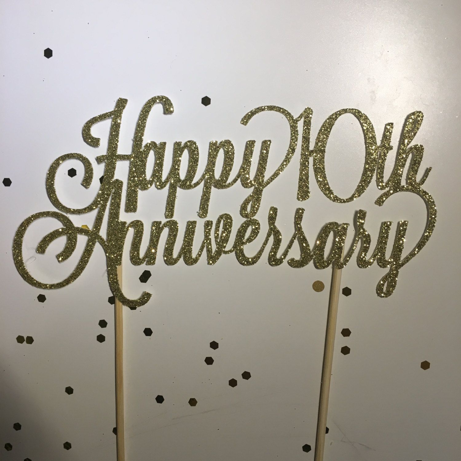 Custom Year Happy Anniversary Cake Topper 8 Or 10 Personalized