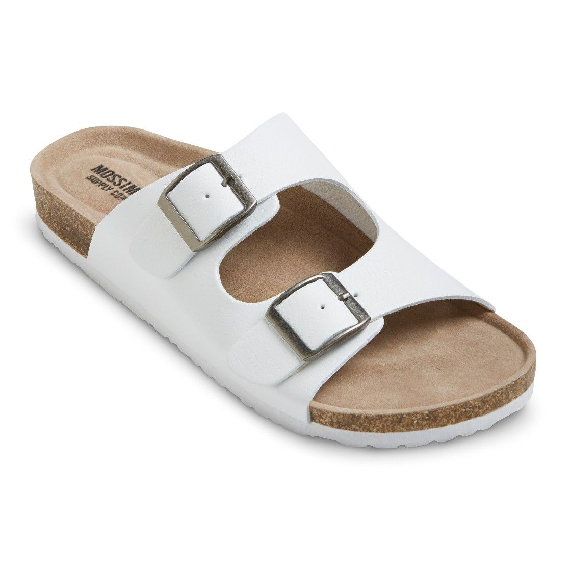 f5c26b597c5 Women s Bailey Two Buckle Footbed Sandals - White 9