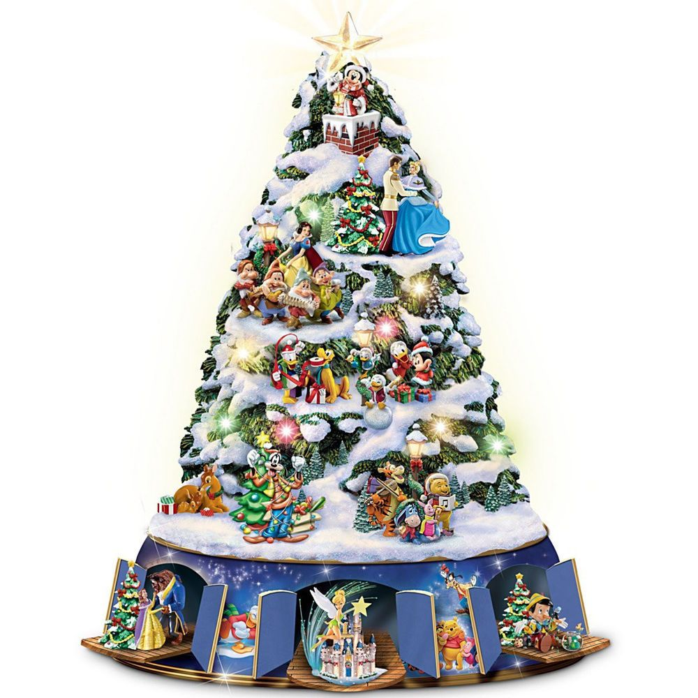 Walt Disney Musical Animated Christmas Tree Tabletop Holiday Decor New Disney Christmas Tree Disney Christmas Tree Decorations Animated Christmas Tree