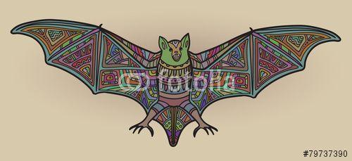 Vector: Ornamental vector bat