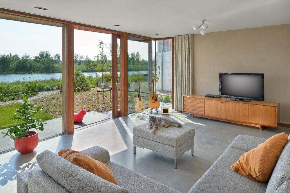 70 Moderne, Innovative Luxus Interieur Ideen Fürs Wohnzimmer   Natur  Glaswand Idee Design Modern Wohnbereich