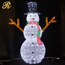 Large Outdoor Lighted Snowman Christmas Decorations Luci Di Natale Pupazzo Di Neve Natale