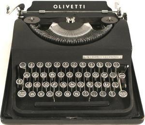 "The ""feminine"" 1949 olivetti typewriter."