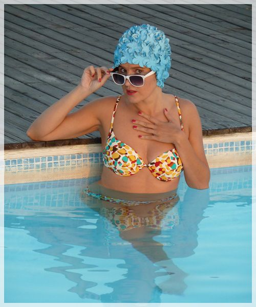 Delightful Flower Vintage Swimming Cap 5