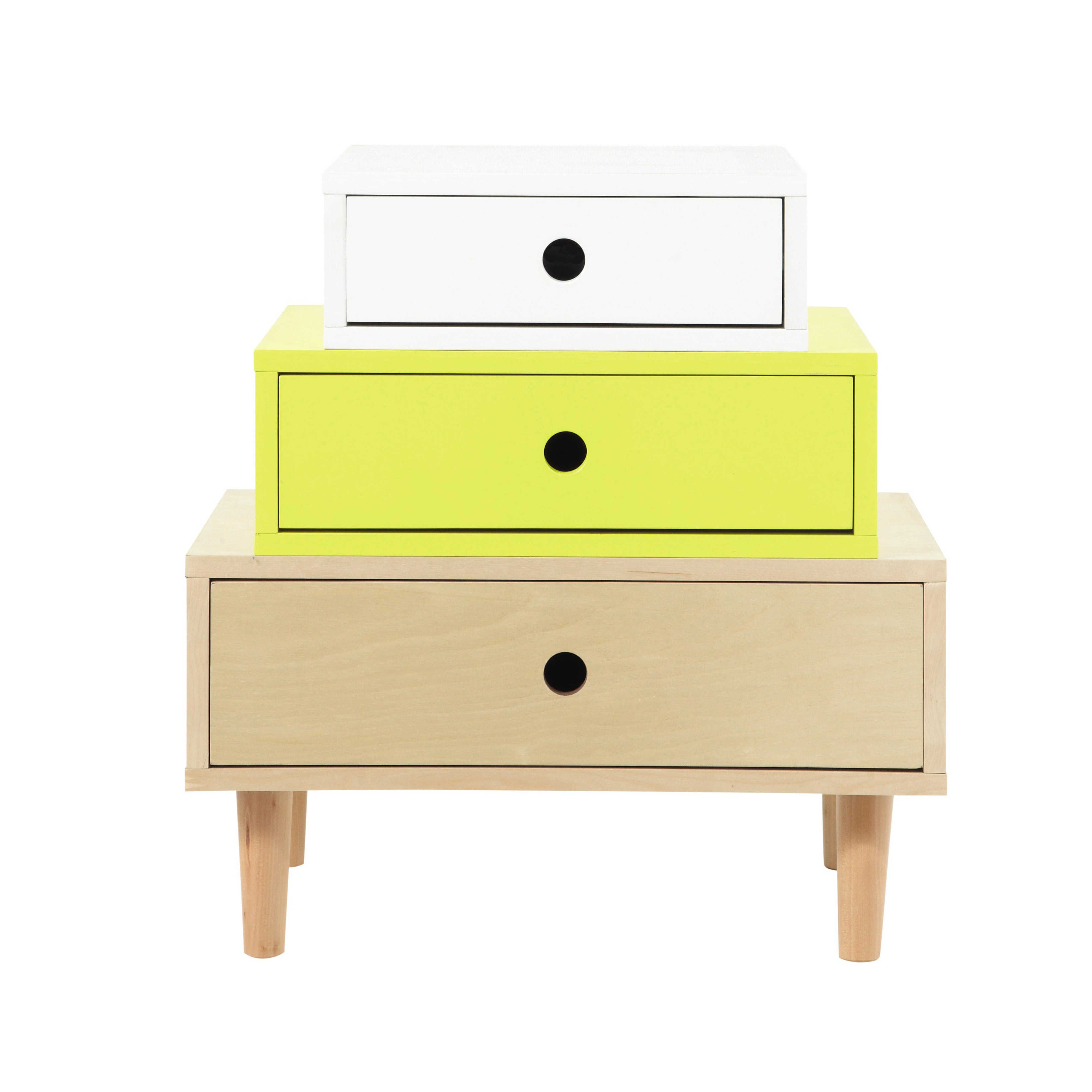 Cabinet de rangement vintage en bois multicolore L 52 cm Dekale