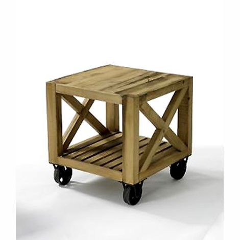 this table would look amazing as an end table  with a pallet coffee table