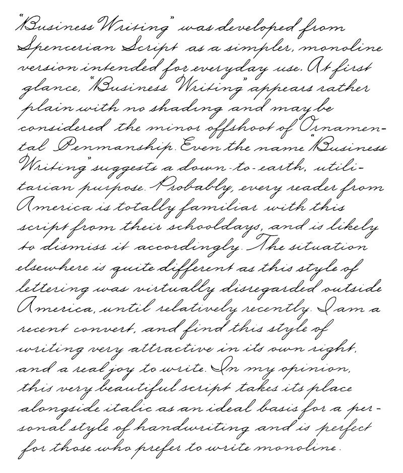 cursive letters printables business writing example by ken fraser things i 6150