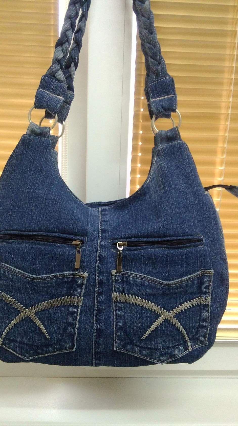 gran surtido salida de fábrica buscar el más nuevo Bolso de jeans reciclar pantalones vaqueros bolso de hombro ...