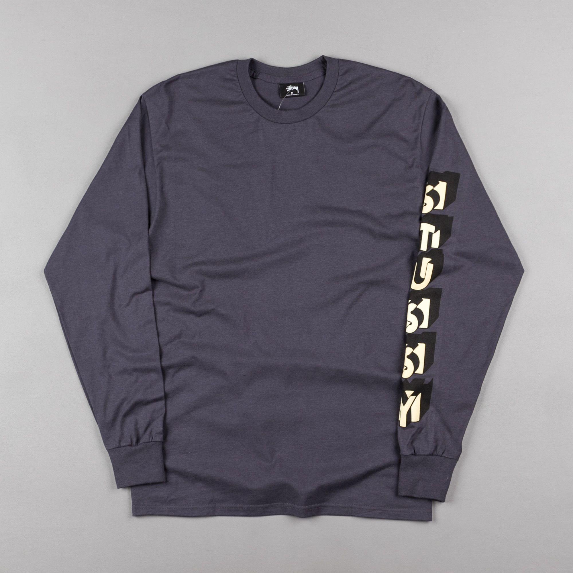 Stussy Blocks Long Sleeve T-Shirt - Midnight