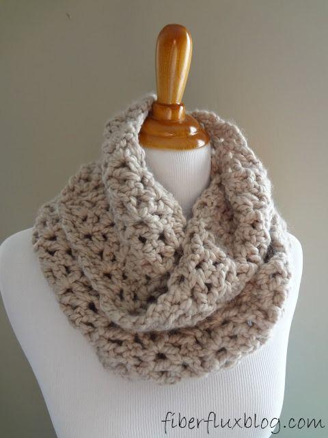 How To Crochet the Pavement Infinity Scarf (stitch by stitch ...