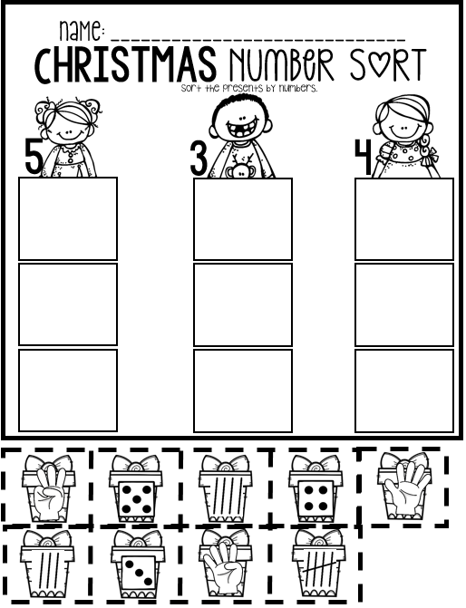 Christmas Math and Literacy Worksheets and Printables for ...
