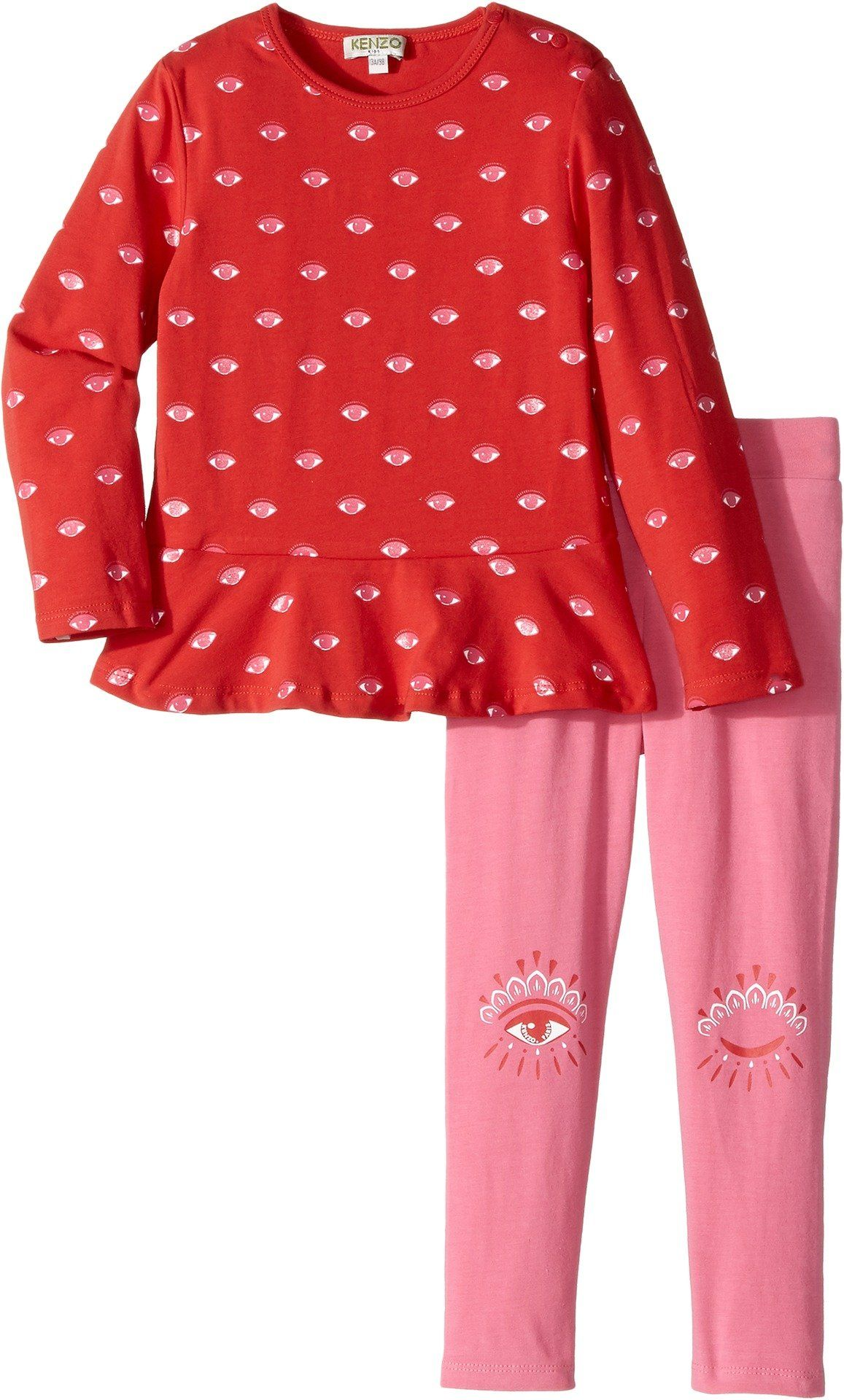 Kenzo Kids Baby Girl s Red and Pink Eye Ensemble Toddler Red 3T