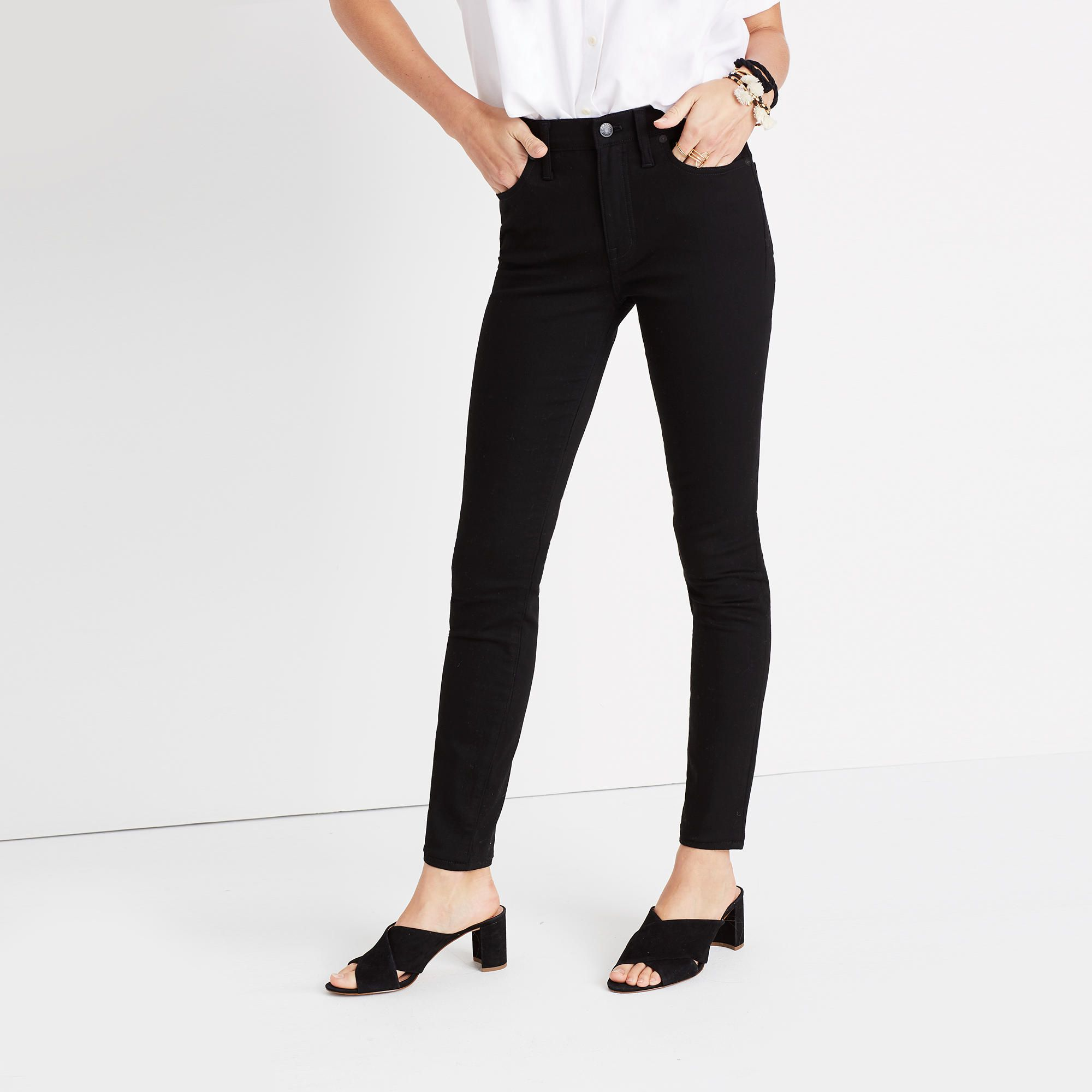 High-rise Skinny Jeans - Black Madewell l2Dgfp