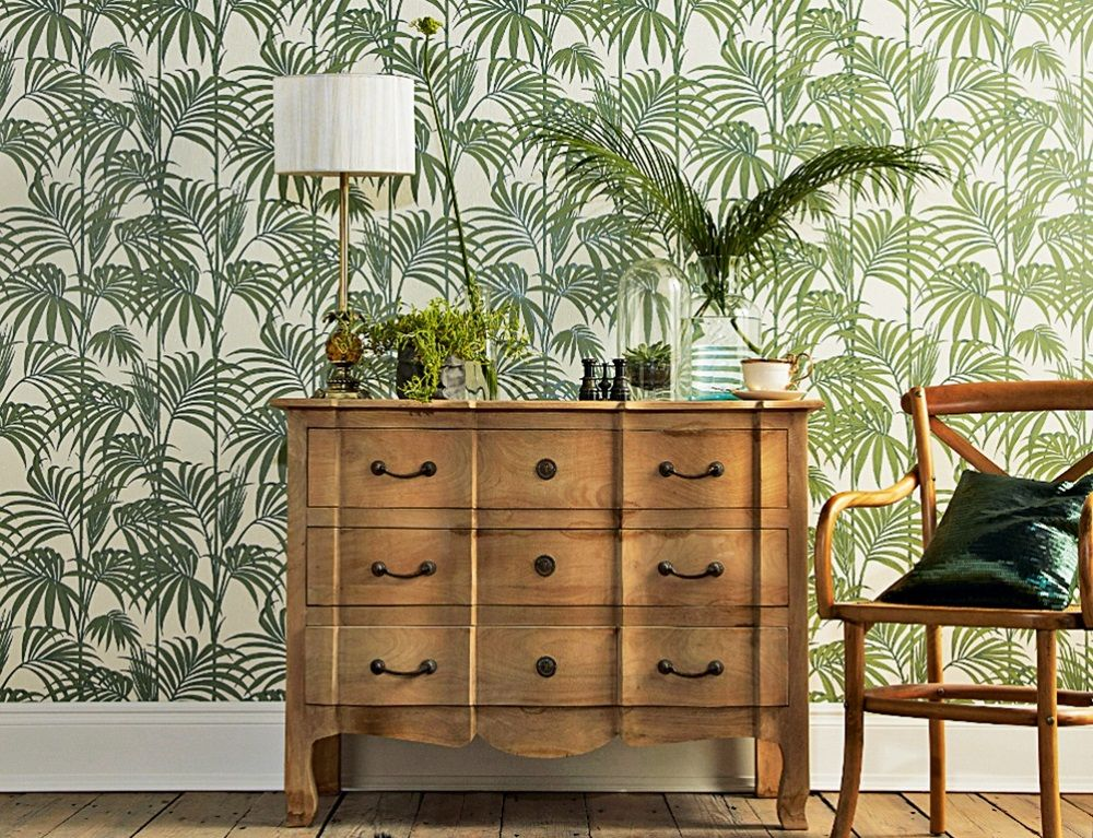 Palm Leaf Pattern Living Room Ideas Playing With Prints