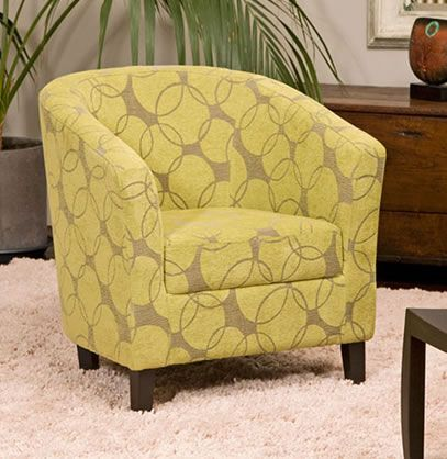 Yapor Tub Chair Unique Circle Patterned Fabric Covered With A Soft Finish