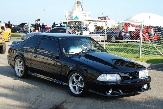 Black Modified Cobra Fox Body Mustang Fox Mustang Mustang Cars