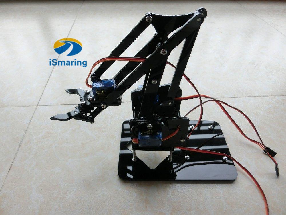 Official ismaring diy dof acrylic robot arm with robotic