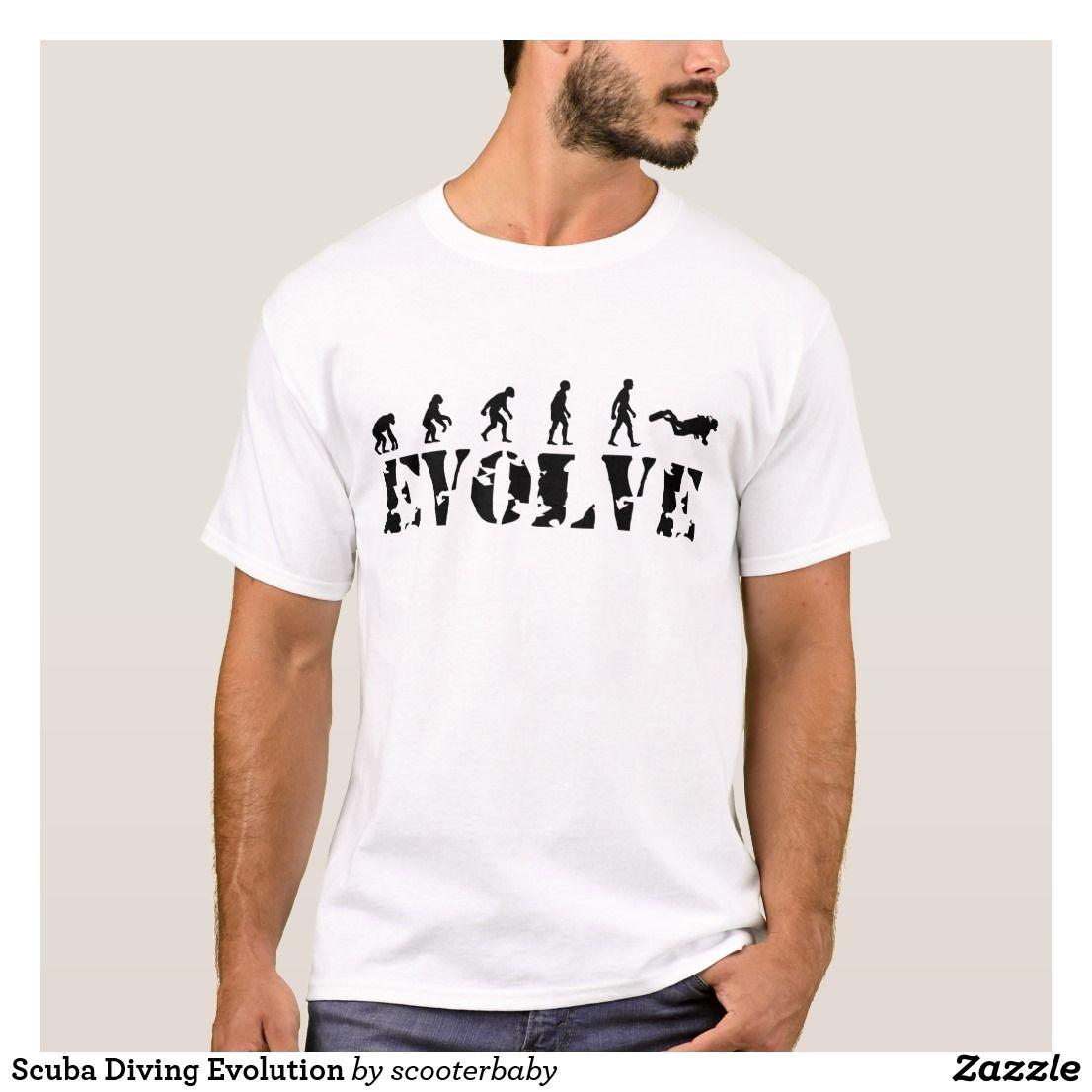 fc08c576e Scuba Diving Evolution T-Shirt   Zazzle.com   Sports T-Shirts and ...