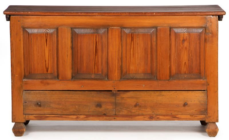 Lot 807 Eastern North Carolina Chippendale Large Chest With Images Southern Furniture North Carolina Furniture Iron Straps