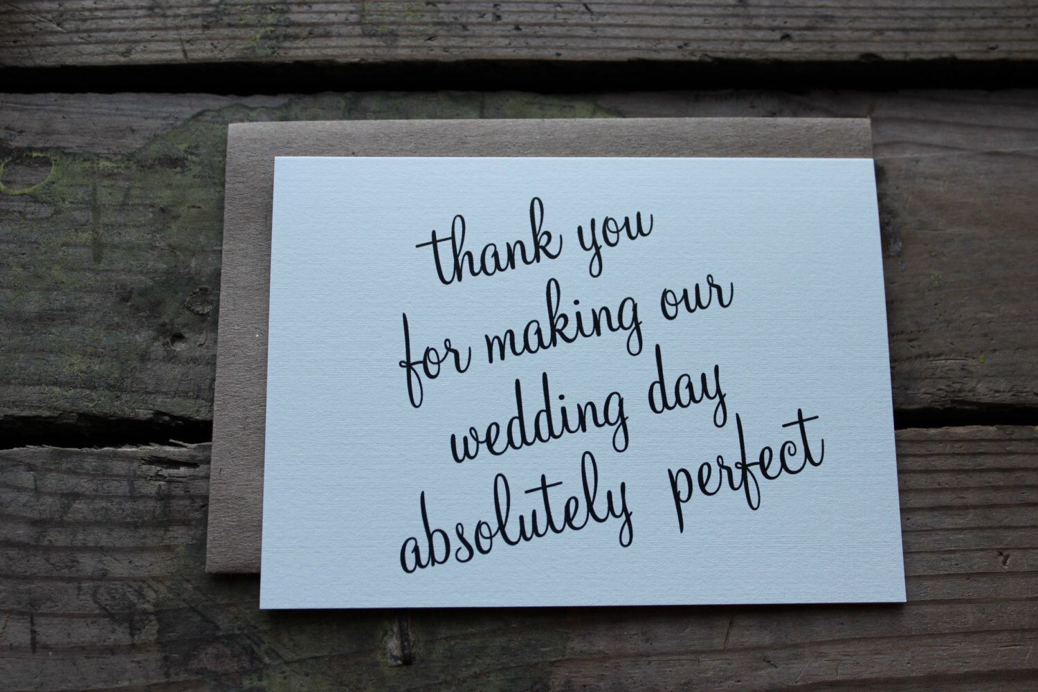 vendor or wedding party thank you cards with envelopes