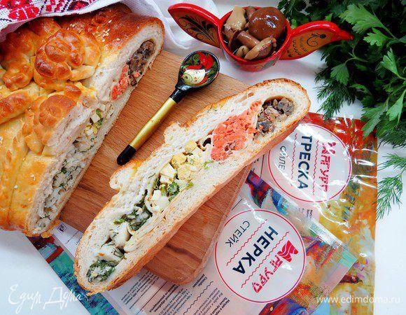 рыбная кулебяка рецепт с фото