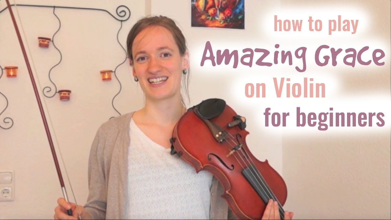 Amazing Grace (how to play) - Easy Beginners Song - Violin