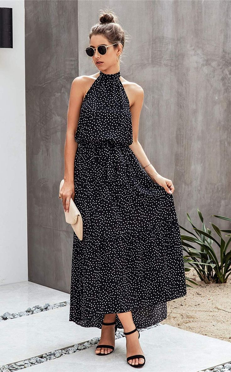 Gorgeous Halter Style Midi Dress. Spring and Summer Fashion. Wedding Guest Dress - polka Dots - Date Night Dress - #ad    Source by simplyfoodandfashion #Backless #Casual #dress #Floral #Halter #Long #Loose #Maxi #Neck #PRETTYGARDEN #ruffle #Sleeveless #Summer fashion 30s #Sund #womens