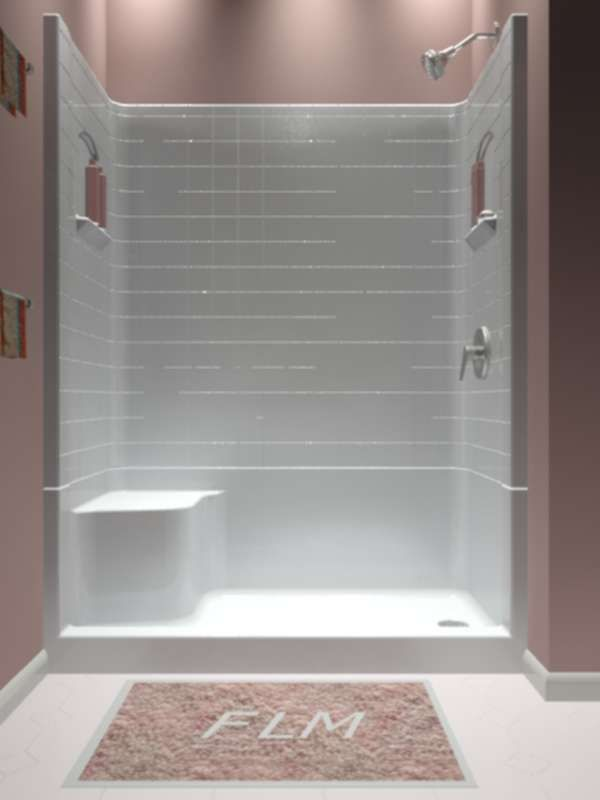 Sectional Piece Remodeler Shower Fiberglass Shower Fiberglass