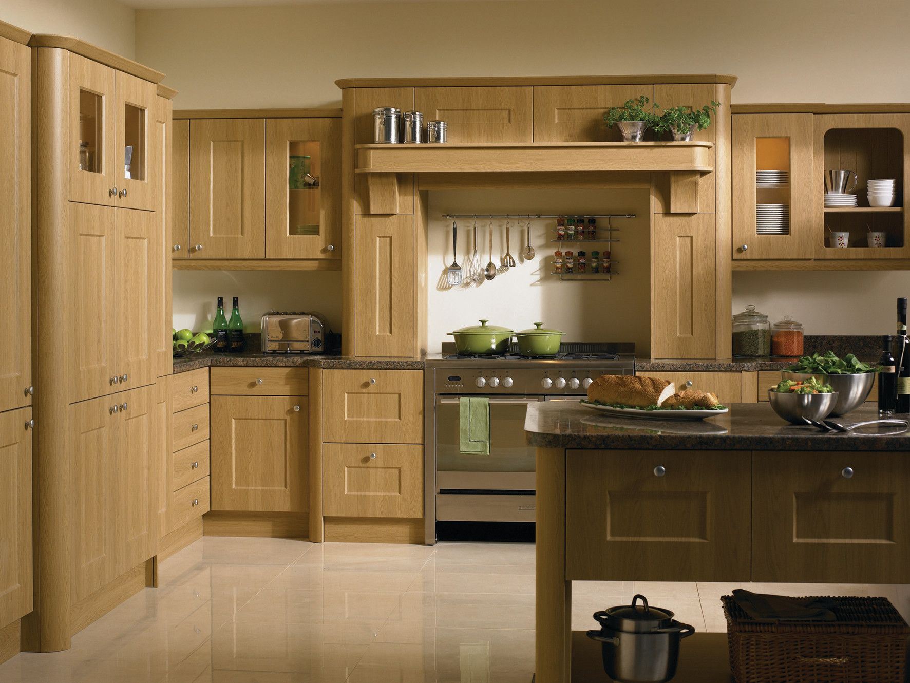Cambridge style fitted kitchen finished in Lissa Oak. We have a huge ...