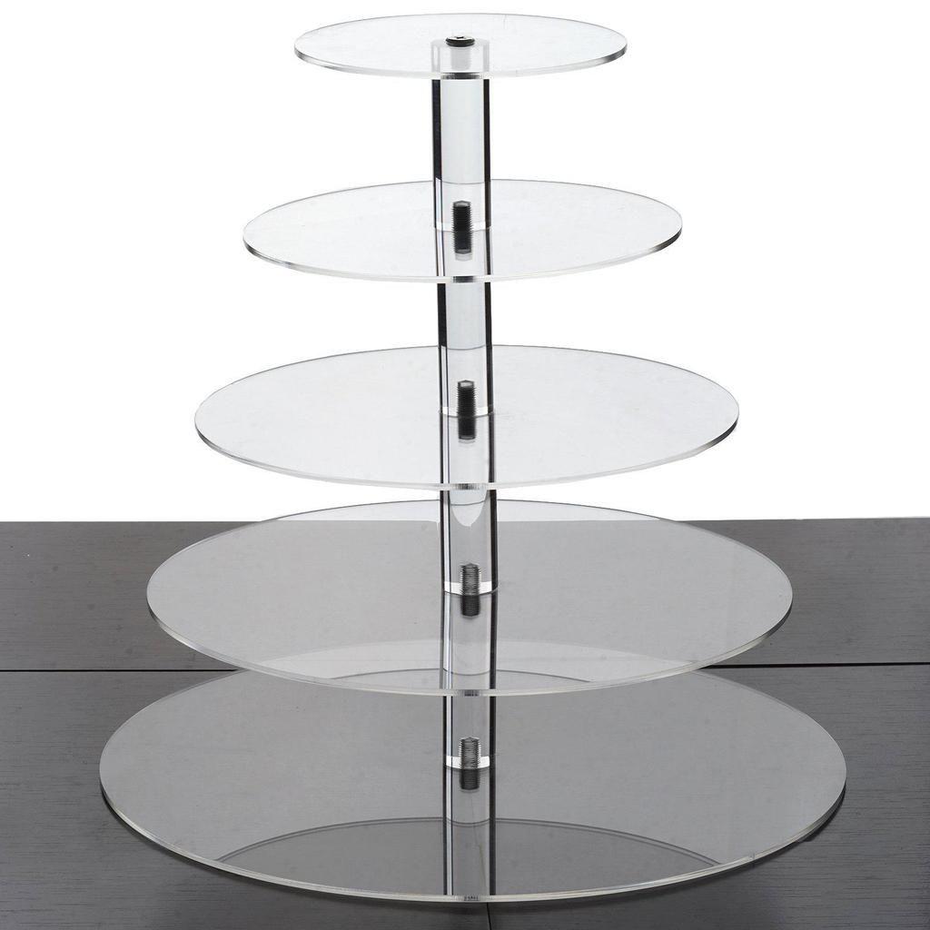 5 tier 17 round acrylic cake stand tiered cupcake