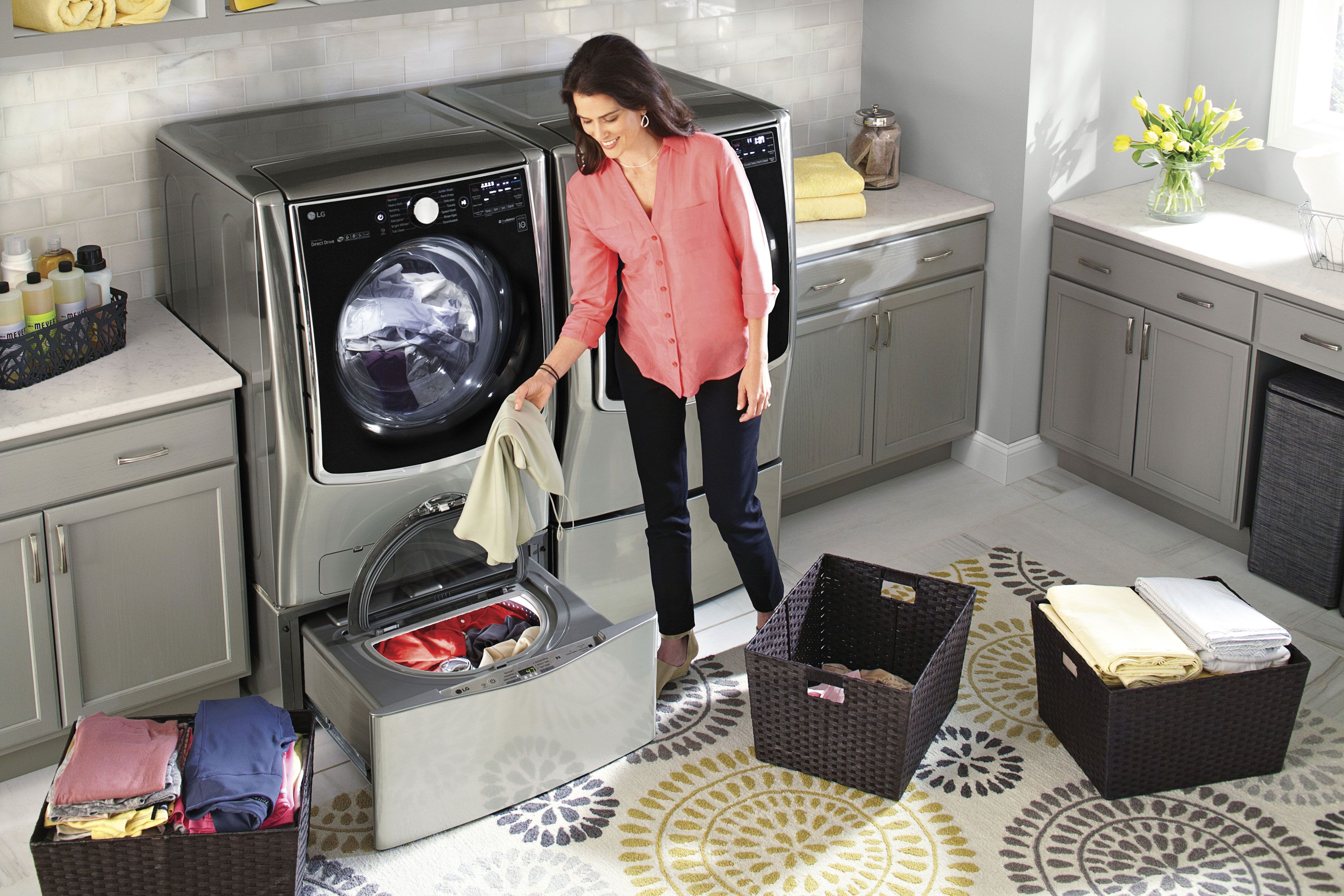 ft electrolux smartboost fast feature with cycle cu main titanium steam pedestal washer