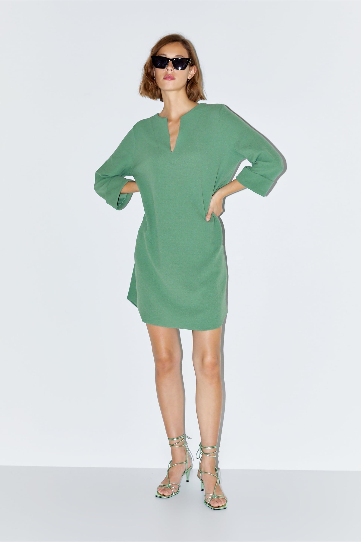 short textured dress - new in-woman | zara united kingdom