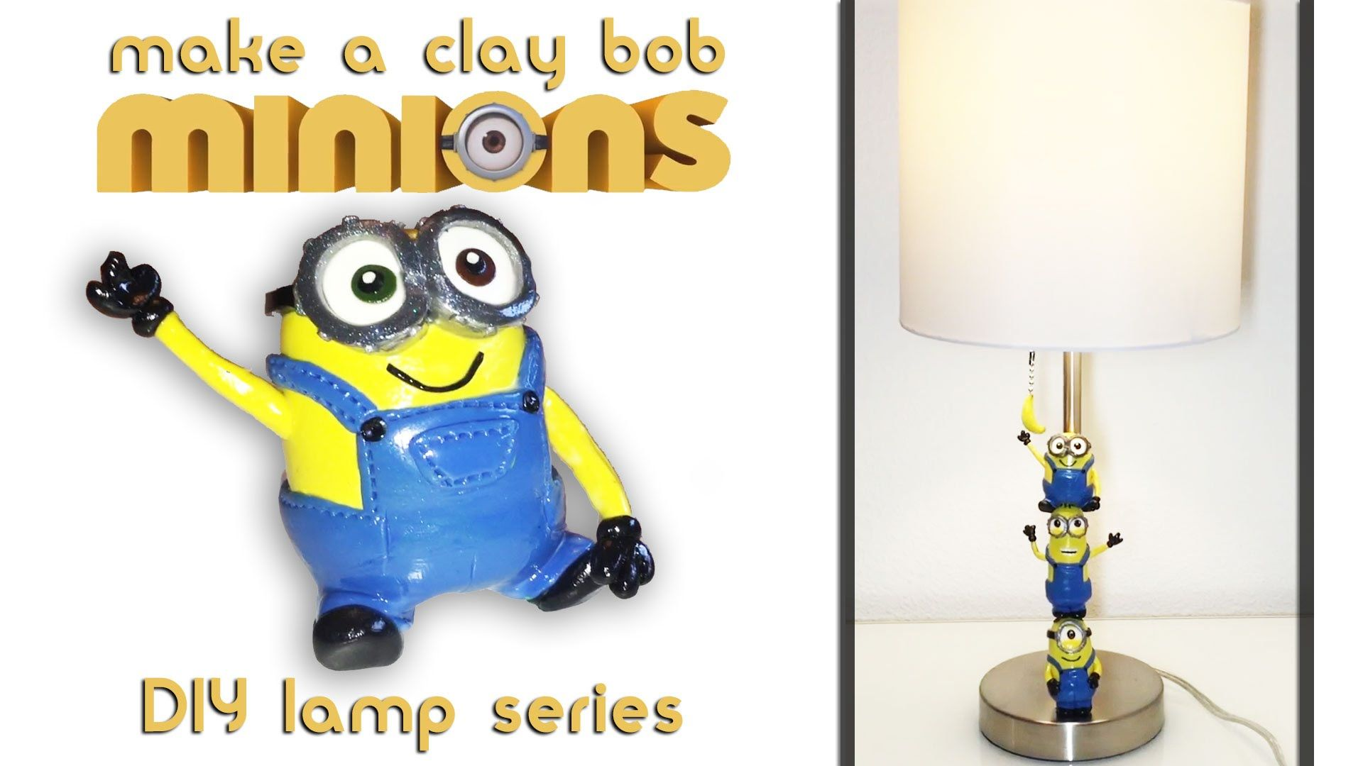 How To Make Bob Minion Toy Polymer Sculpey Clay (Despicable Me 2) Minion.