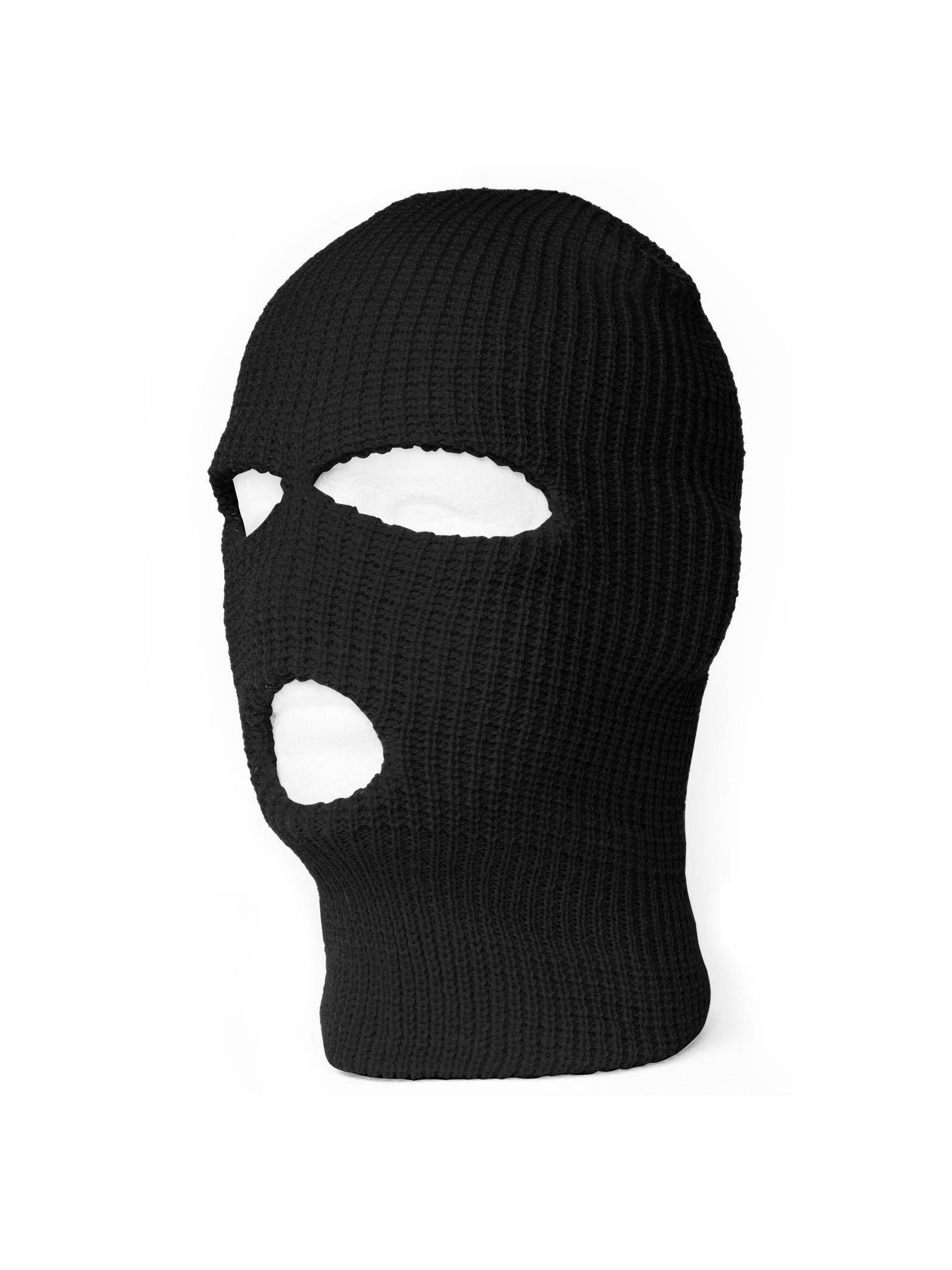 Topheadwear S 3 Hole Face Ski Mask Black 1pc Walmart Com Ski Mask Skiing Balaclava