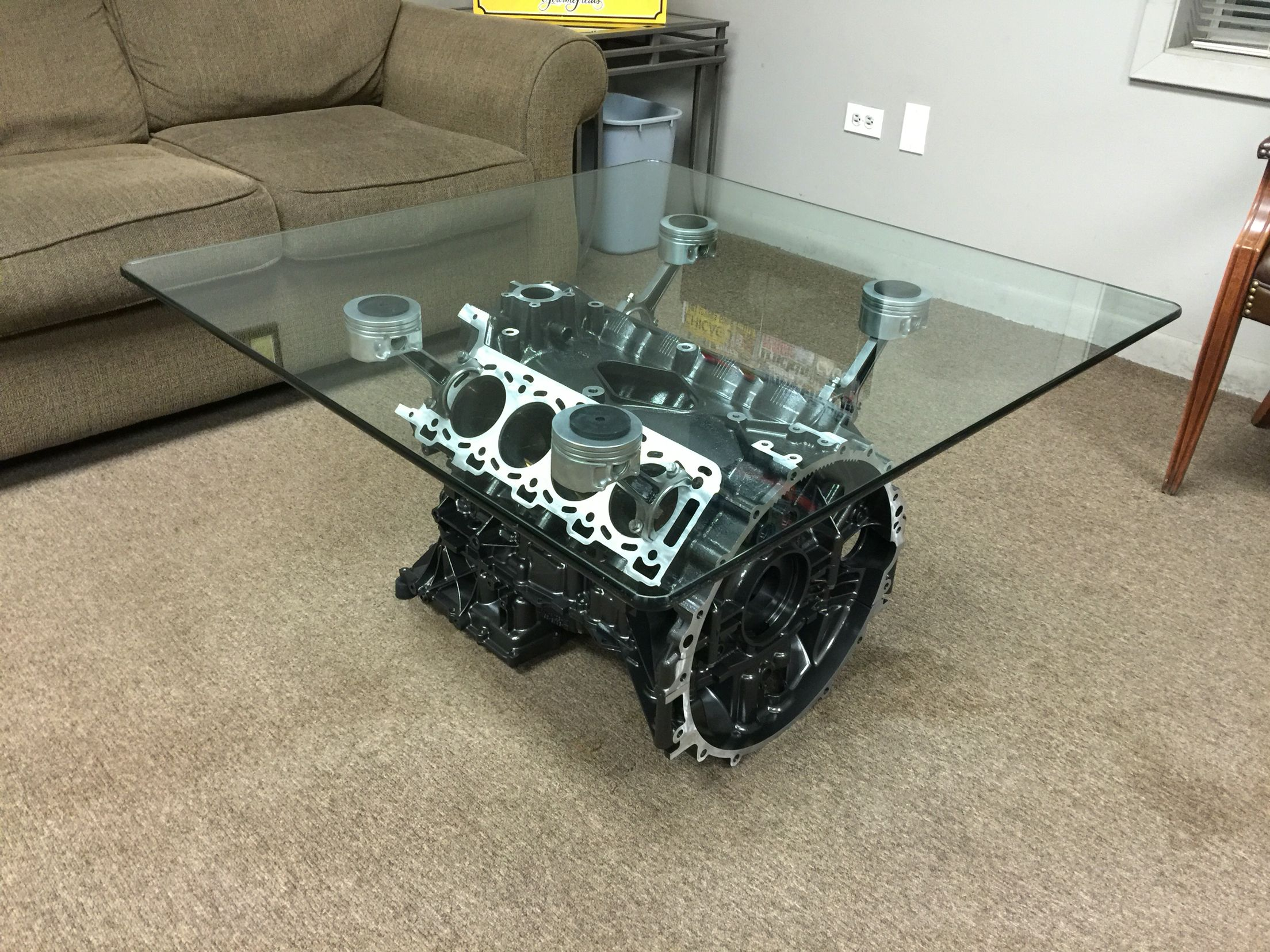 jaguar engine block coffee table my projects. Black Bedroom Furniture Sets. Home Design Ideas