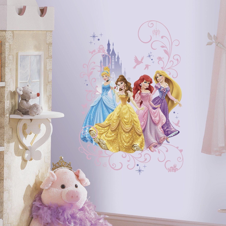 Princesses Stickers Muraux Princesses Disney Chambre Denfants Stickers Mural Enfant Fille Chambre Bebe Wall Sticker Kids Autocollants Princesse