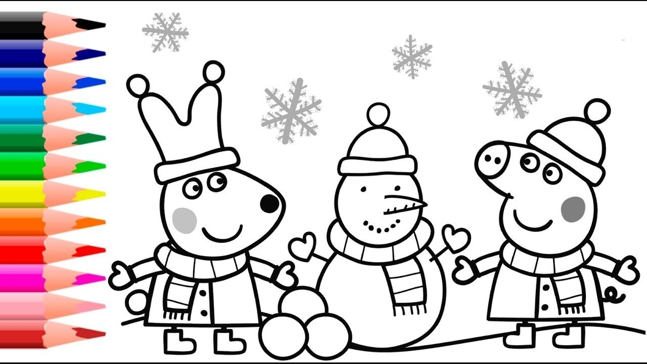 Peppa Pig Coloring Youtube Coloring Pages Allow Kids To Accompany Their Favorite Ch Peppa Pig Coloring Pages Christmas Coloring Pages Cartoon Coloring Pages