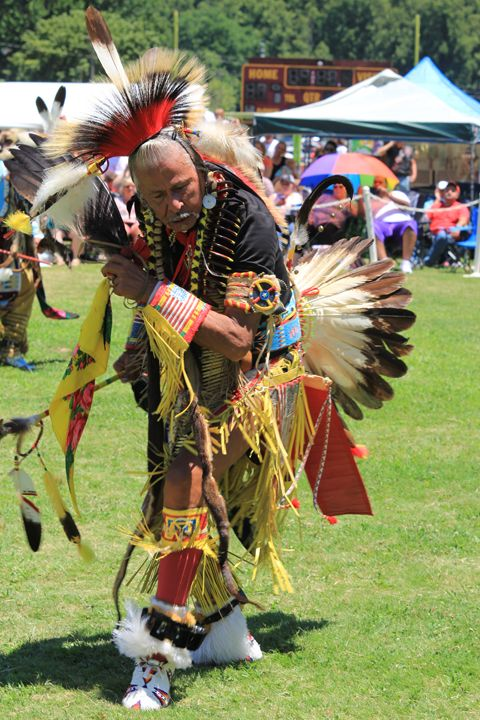 Cherokee Powwow, Veteran Men's Traditional Dancer, Apesanahkwat ...