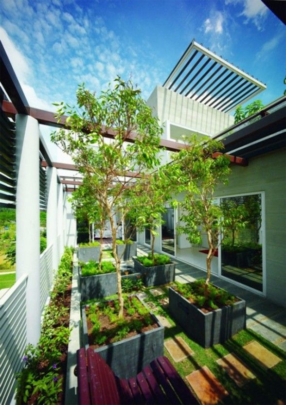 Great Tropical Houses In Urban Environment, Eco Friendly ...
