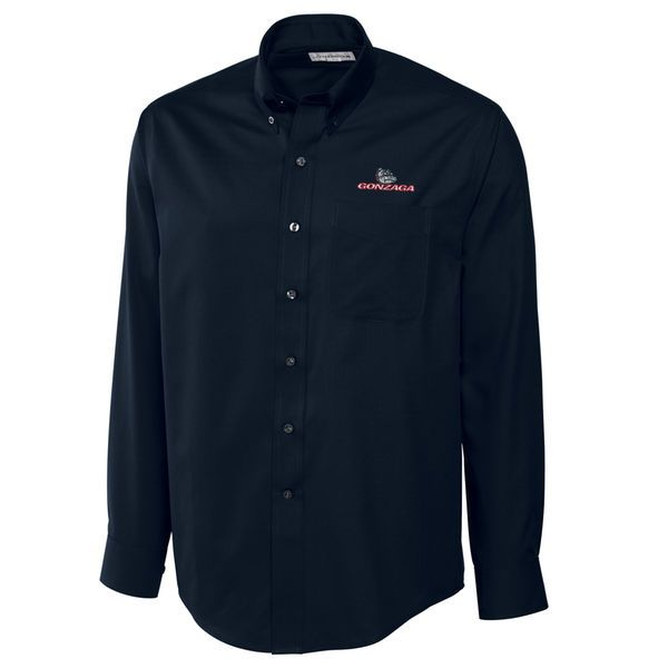 Gonzaga Bulldogs Cutter & Buck Big & Tall Epic Easy Care Fine Twill Long Sleeve Button-Down Shirt - Navy - $94.99