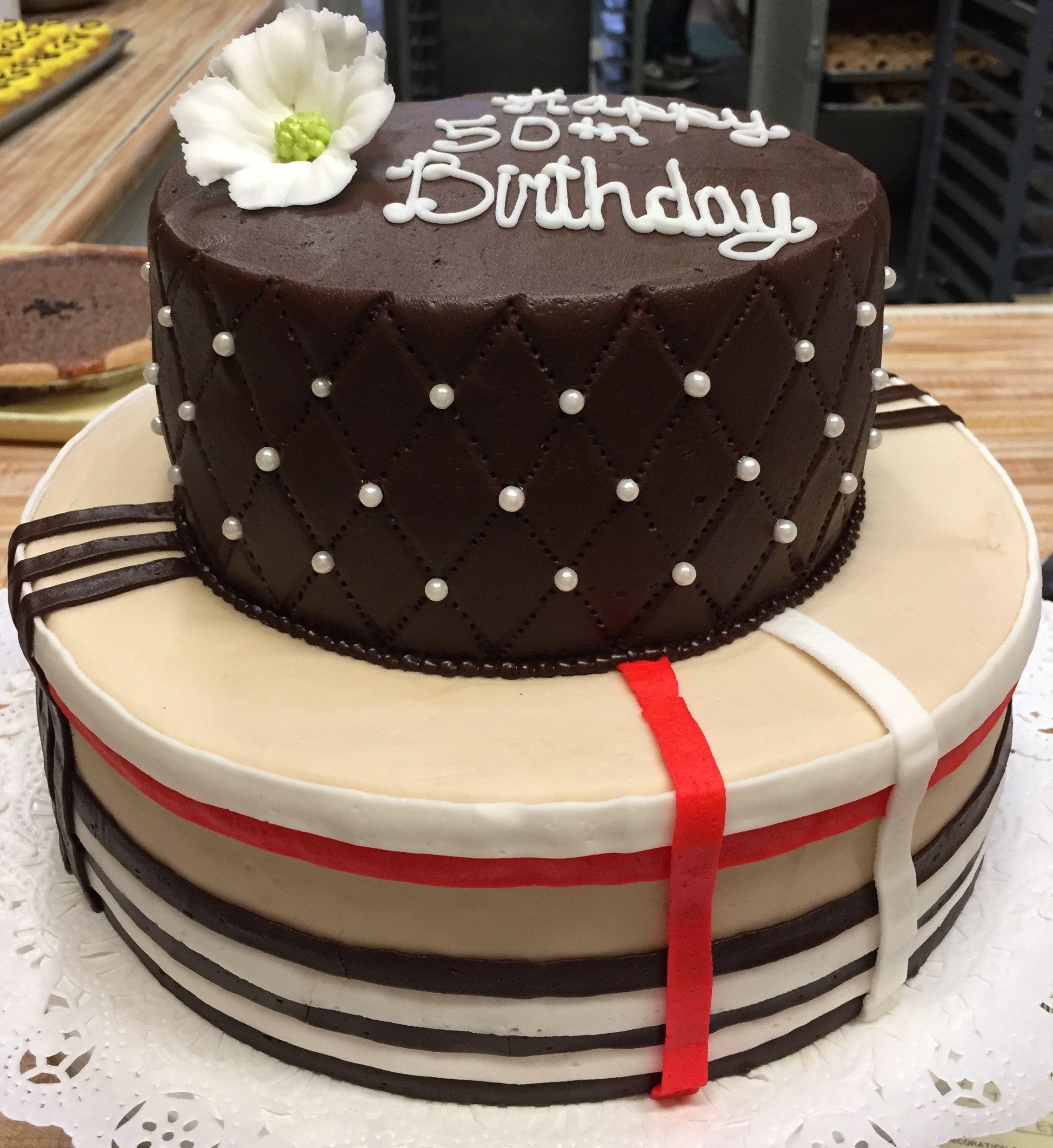 2 Tier Birthday Cake Westhampton Pastry Shop Richmond VA