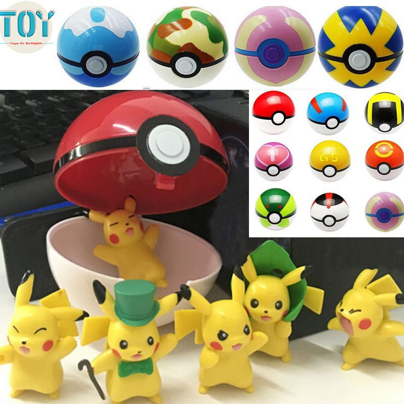 Find More Action & Toy Figures Information about New 12pcs Pokemon Pokeball…