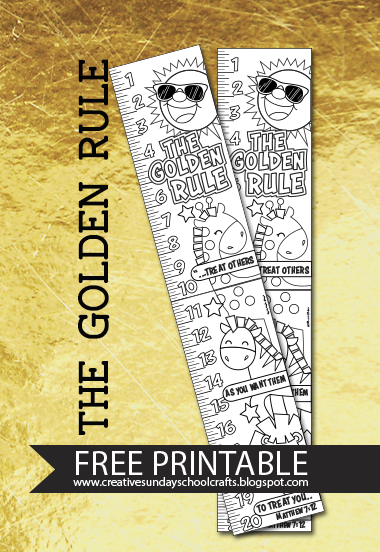 photo relating to Golden Rule Printable called Resourceful Sunday University Crafts: Golden Rule - Totally free Printable