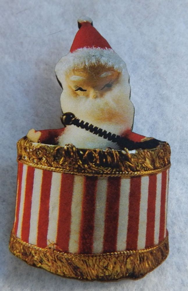 Kitchy Retro Style Christmas Santa Claus Brooch or Scarf Pin Accessories Wood  #handmade http://www.ebay.com/itm/151507583130?ssPageName=STRK:MESELX:IT&_trksid=p3984.m1555.l2649
