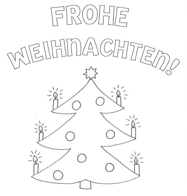 Frohe Weihnachten Malvorlagen