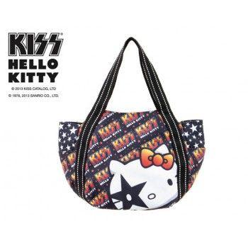 cd60e57ffb7e KISS x Hello Kitty Women Canvas Tote Shoulder Bag