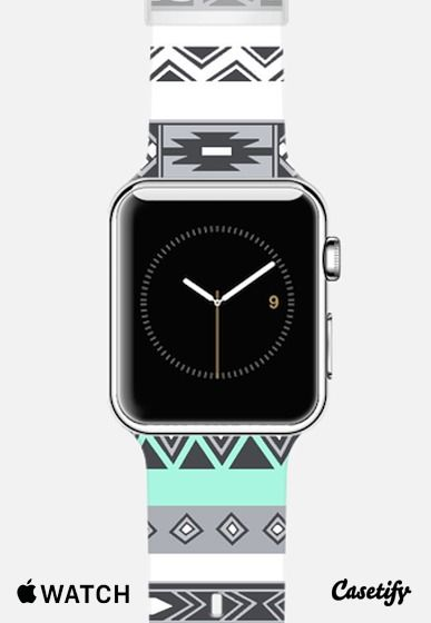 Turquoise Mint Tiffany Boho Aztec Pattern Apple watch